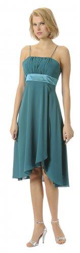 Teal Knee Length Chiffon Teal Graduation Dress Cocktail On Sale Gown | DiscountDressShop.com 2816PO