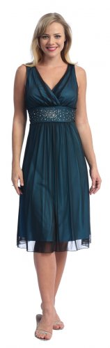 Cheap Black Turquoise Cocktail Dress Knee Length Black Party Dress | DiscountDressShop.com 2023CE