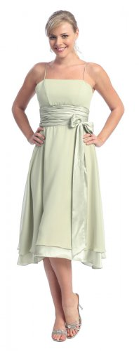Cheap Sage Bridesmaid Dress Sage Wedding Sage Cocktail Gown Sage   DiscountDressShop.com 2116NX
