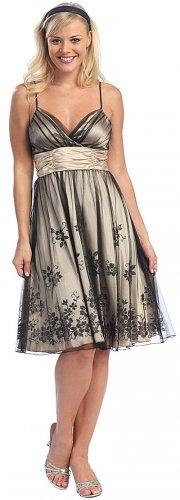 Cheap Black Lilac Formal Dress Knee Length Cocktail Lilac Prom Dress | DiscountDressShop.com 2003CE