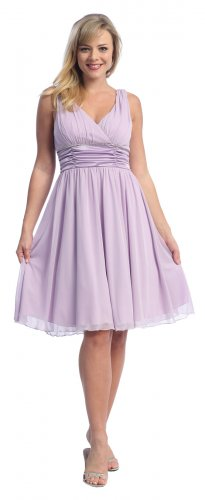 Cheap Knee Length Short Lilac Dress Lilac Cocktail Party Prom Dress | DiscountDressShop.com 2066CE
