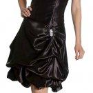Elegant Black Cocktail Bubble Dress Knee Length Bridesmaid Gown | DiscountDressShop.com 2098JU