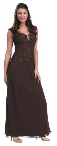 Brown Mother of the Bride/Groom Dresses Formal Evening Brown Dress | DiscountDressShop.com 1084NX