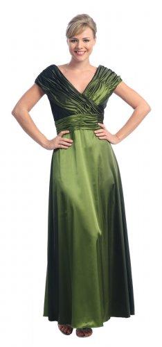 Olive Mother of the Bride/Groom Dress Formal Evening Wedding Gown | DiscountDressShop.com 2010NX