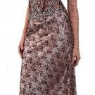 Sexy Elegant Brown Bridesmaid Dress Deep V Neckline Formal Pageant   DiscountDressShop.com 1111CD