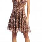 Cheap Sexy Light Brown Cocktail Dress Short Party Brown Halter Dress | DiscountDressShop.com 1108NX