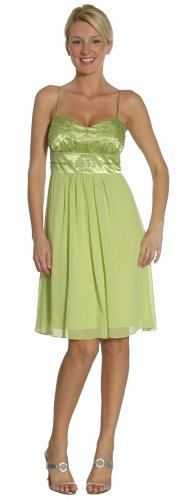 Cheap Lime Graduation Dress Spaghetti Empire Waist Lime Dress Party | DiscountDressShop.com 2141JU