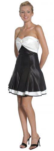 Cheap Formal Off White Black Short Dress Strapless Black Cocktail   DiscountDressShop.com 2145JU