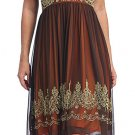 Cheap Brown Orange Dress Empire Waist Dress Cocktail Party Prom Gown | DiscountDressShop.com 6041CE