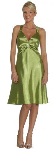 Cheap Olive Short Halter Criss Cross Dress Cocktail Prom Dresses   DiscountDressShop.com 2140JU