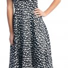 Polka Dot Cocktail Dress Halter Short Party Dress Graduation Polka | DiscountDressShop.com 2101NX