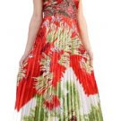 Cheap Strapless Multi Color Print Formal Prom Dress Empire Waist | DiscountDressShop.com 1099PCD