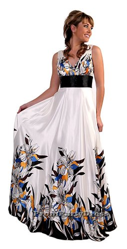 Cheap Elegant Flower Print Prom Dress Bridesmaid Formal Full Length   DiscountDressShop.com 1106CD