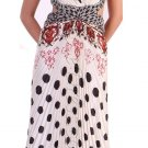 Polka Dot Print Dress Pattern Cheap Dress with Criss-Cross Back Size | DiscountDressShop.com 1109CD