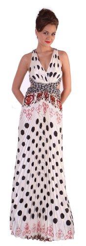 Polka Dot Print Dress Pattern Cheap Dress with Criss-Cross Back Size | DiscountDressShop.com 1109CD