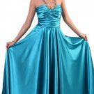 Cheap Turquoise Prom Dress Grecian Neck Strap Formal Bridesmaid Gown | DiscountDressShop.com 0212CD