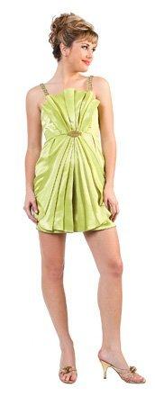 Mini Skirt Short Green Prom Dress Sea Shell Design Cocktail Dress | DiscountDressShop.com 0213CD