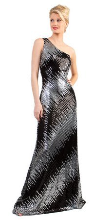 One Shoulder Sequin Dress Floor Length Formal Prom Red Carpet Gown | DiscountDressShop.com 066CD