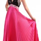 Halter Hot Pink Formal Dress Sequin Top Party Prom Dress Hot Pink | DiscountDressShop.com 120CD