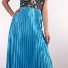 Cheap Halter Pleated Turquoise Black Formal Dress Party Prom Dresses | DiscountDressShop.com 162CD