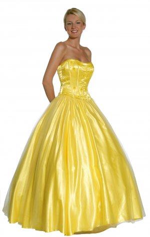 Yellow Princess Gown Yellow Ballroom Gown Yellow Quinceanera Dresses | DiscountDressShop.com 1025JU
