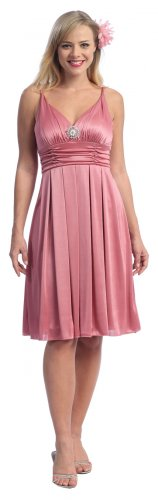 Cheap Rose Pink Dress Knee Length Rose Pink Cocktail Pink Prom Gown | DiscountDressShop.com 2082CE