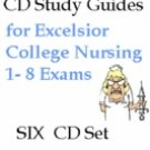 Excelsior College NURSING EXAMS 1-8 CD Study Guides