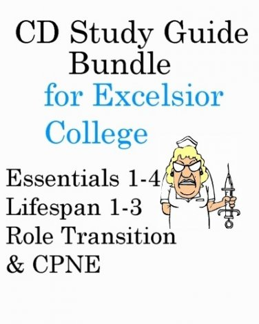 Excelsior College Nursing Exam bundle Essentials, Lifespan, Transitions and CPNE