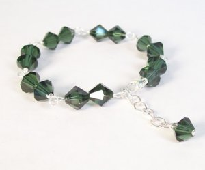 Tourmaline Twin Crystal bracelet and earrings - perfect for bridesmaid jewelry