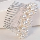 Shoshanna Pearl Cluster Hair Comb with Crystal Accents