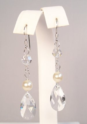 Heidi Pear Drop Earrings - Wedding Earrings for Brides and Bridesmaids