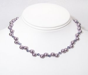 Mauve & Tanzanite Illusion Necklace - Purple - Bridesmaid Necklace Jewelry
