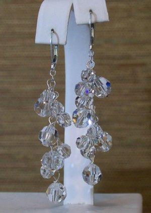 Lola Crystal Chandelier Earrings - Sterling Silver Wedding Jewelry
