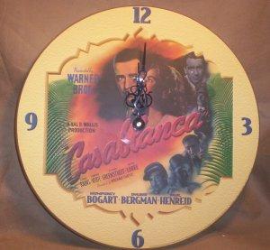 Casablanca Wall Clock, Bogart, Bergman, Henreid, Item # 04-0010010060010