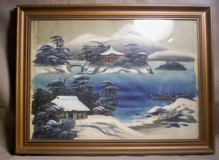 * Oriental Watercolor painted on Silk, Item # 04-0010010060007