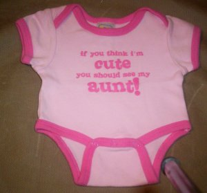 """Baby Connection Preemie Onesie-""""If you think I'm cute..."""""""