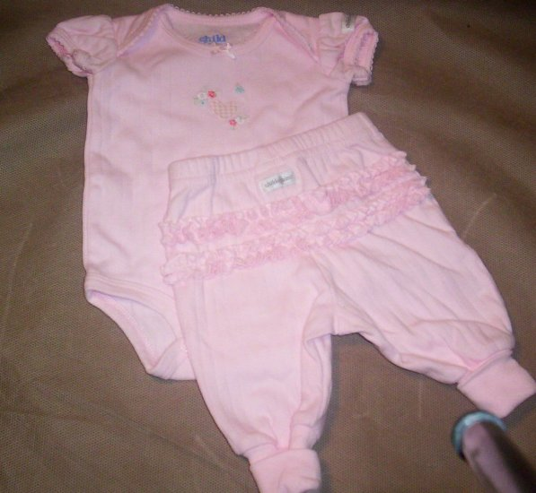 2 Piece Girls Preemie Set