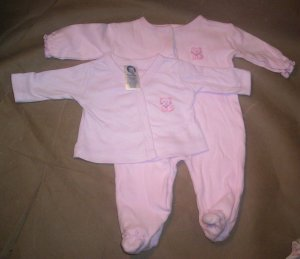 2 Piece Girls Preemie Set in Purple