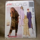 New McCall's Easy Womanstyle Caftan Pattern # 2525 Size 26W-50