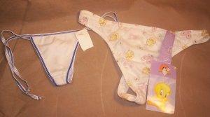 "2 Pair Ladies ""G"" string Bikini Panties, Size XL, NWT, Item # 05-001001060015"