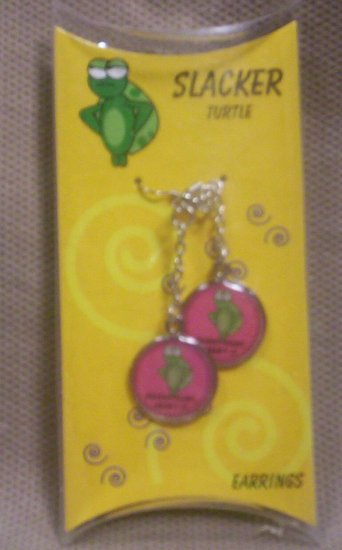 "Teens ""Slacker Turtle"" Dangle Earrings, Item # 08-001001060005"