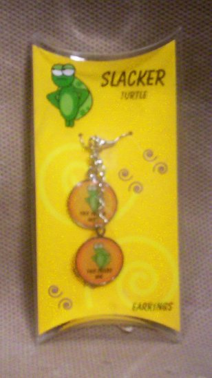 """Teens """"Slacker Turtle"""" Dangle Earrings, Item # 08-001001060013"""