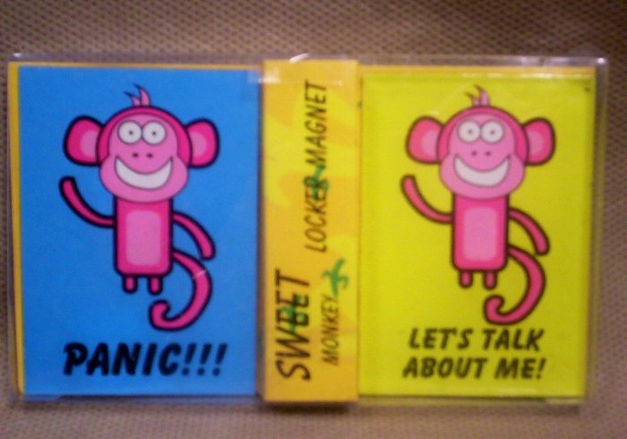 Set of 2 Locker Magnets, Sweet Monkey, Item #08-001001010011
