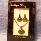 Boutique Chic Antique Finish Necklace & Earring Set, Item # 08-001001060017