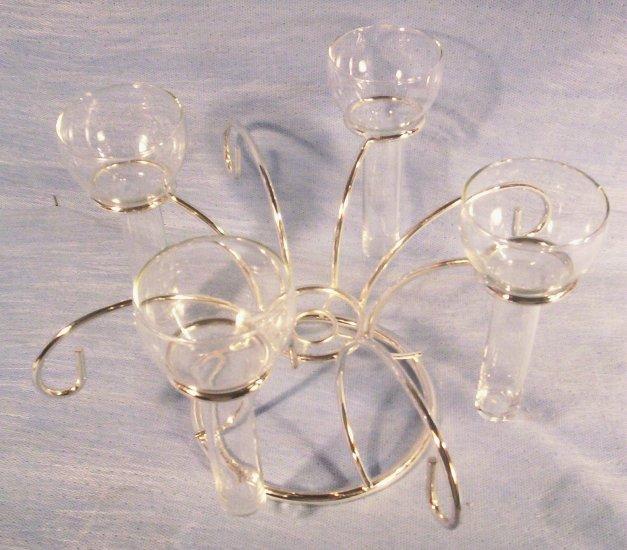 Silver Plated Crystal Holder Single Flower  Vase, Item # 04-001020060022