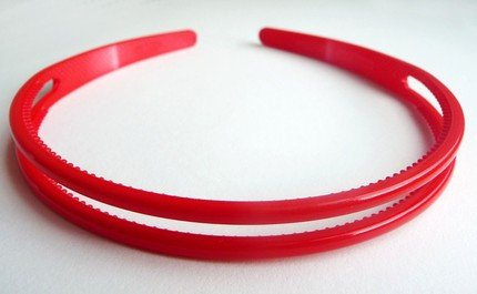 1 pcs 8mm-15mm Coated Glossy Headbands with Teeth from in Red