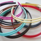 Wholesale 8-15mm GlossyPlasticHeadband from Red, Blue, Pink, Cream, Black, Navy, Dk Brown, Lt Brown