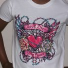 """look after my heart"" tattoo tshirt for ladies"