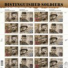 US #3393-96 DISTINGUISH SOLDIERS SHEET 20 STAMPS MNH