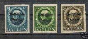 153-155 Set of 3  King Ludwig III German States Stamps
